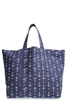 Tri-Coastal Design Anchor Print Beach Bag available at #Nordstrom