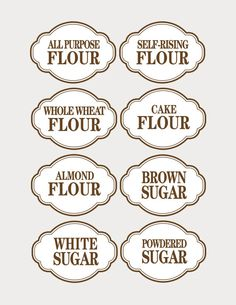 canister labels printables