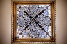 Colecção de pratos em cerâmica chinesa da Sala das Porcelanas do Palácio de Santos (Embaixada francesa).
