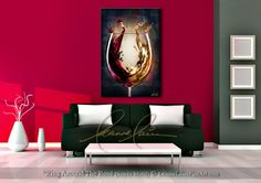 """Ring Around The Rosé (Soirée Motif) by wine artist © Leanne Laine Fine Art #wineart #winepainting"