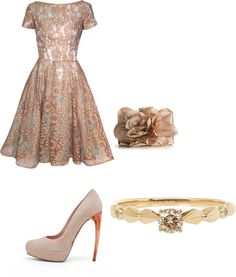 A fashion look from May 2012 featuring lace cocktail dresses, platform pumps and evening handbags. Browse and shop related looks. To My Daughter, Daughters, Bridal Party Dresses, Wedding Bridesmaids, Passion For Fashion, Classy, Clothes For Women, Formal Dresses, Elegant
