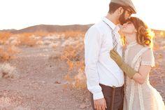 Desert Elopement Couple