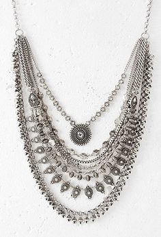 Should have gone there!!  Layered Chain Statement Necklace | Forever 21 - 1000130284