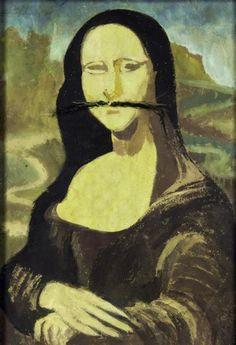 Marcel Janco - Mona Lisa Tristan Tzara, Mona Lisa Secrets, Raoul Hausmann, Moustache, Mona Friends, Dada Art, Mona Lisa Parody, Milk Magazine, Francis Picabia
