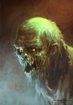 Undead Zombie Walker by Michael Gravemann Zombie Kunst, Art Zombie, Zombie Face, Gothic Horror, Arte Horror, Horror Art, Espanto, Creepy Pictures, Classic Monsters