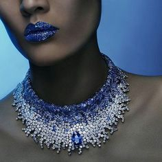 Breathtaking #sapphire and #diamond necklace via @odldmag - Shooting for www.odldmag by Vincent Alvarez