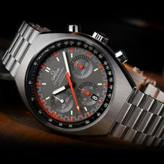 Omega Speedmaster Mark II Co Axial Chronograph 32710435006001 - Coole Produkte Stylish Watches, Luxury Watches For Men, Cool Watches, Wrist Watches, Gadget Watches, Cheap Watches, Elegant Watches, Omega Speedmaster, Men's Accessories