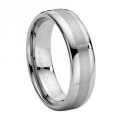 tungsten wedding ring for him