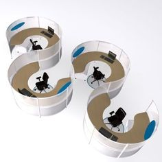 Modular Office Furniture - Workstations, cubicles, systems, modern, contemporary. Overflow Cafe:
