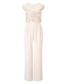 Phase Eight Cortine Lace Jumpsuit White