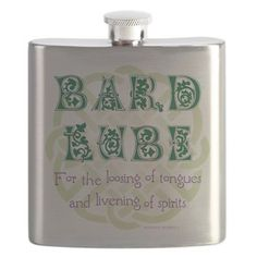 Funny Celtic Bard Lube Flask