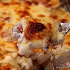 Old fashioned scalloped potatoes and ham, an excellent recipe for an everyday meal or potluck dinner. One of my favorite comfort foods.