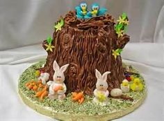 Easter Cakes Every Easter dinner table has to have dessert! All of Spring and Easter's adorable animals are used in Easter decorations, and they are perfect to incorporate into cakes as well! Easter Cake To Make, Easter Bunny Cake, Easter Cupcakes, Easter Cookies, Easter Treats, How To Make Cake, Bunny Cakes, Easter Food, Easter Eggs