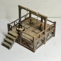 The Undertaker 28-35mm Western Old West Scenery   Etsy The Undertaker, The Block, Old West, Tabletop, Two Story Windows, Gallows, American Frontier, Small Buildings, Star Wall