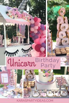 Unicorn Birthday Party via Kara's Party Ideas - KarasPartyIdeas.com