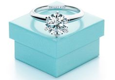 A Tiffany engagement ring is another thing I love in weddings.