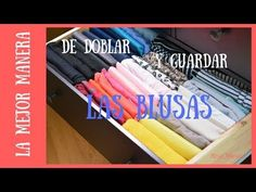 How to fold and store blouses Folding Laundry, Clothing Hacks, Organizing Your Home, Closet Organization, Organization Ideas, Home Hacks, Ideas Para, Helpful Hints, Diy