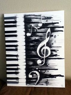 ▷ Ideen: moderne Leinwandbilder selber gestalten Drawings, Theresa G, Drawings Musik DIY Modern Canvas Art Musical Piano Source by . Art Amour, Melting Crayons, Art Moderne, Love Art, Painting & Drawing, Music Painting, Music Artwork, Music And Art, Diy Painting