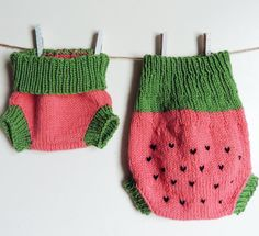 Think of how adorable your Little will look in a watermelon diaper cover this summer! H&HKnits wool soakers are trim enough to use under pants