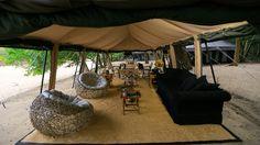 Lounge area to relax after a day's animal spotting on safari in Yala or Wilpattu National Park, Sri Lanka  #hotelsinsrilanka #safarisrilanka #campingsrilanka #yalanationalpark  Book your stay with toniclankacollection.com