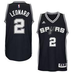 Men s San Antonio Spurs Kawhi Leonard adidas Black Player Swingman Jersey 2a19f8c9ae12