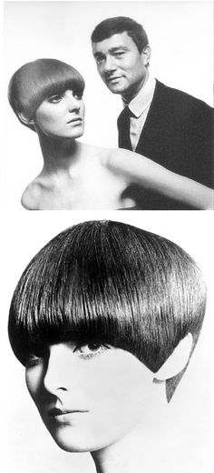 Grace Coddington, 1965. Hair by Vidal Sassoon, pictured - RIP, 9 May 2012.