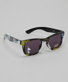 Take a look at this Black Snoopy Sunglasses by Peanuts by Charles Shultz on #zulily today!