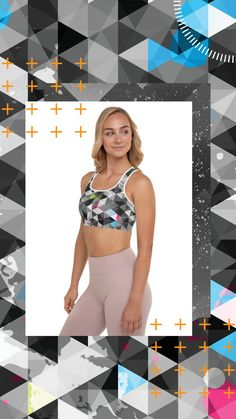 Get the perfect bra for your workouts! This comfy bra has a soft moisture-wicking fabric, extra materials in shoulder straps, and removable padding for maximum support. Yoga Shorts, Yoga Leggings, It Takes Two, Online Yoga, Faux Fur Pom Pom, Yoga Everyday, Yoga Challenge, Yoga Meditation, Dog Food