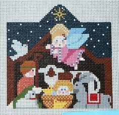 Nativity Scene HP Needlepoint 18 ct canvas