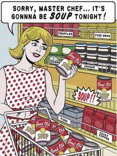 Soup AGAIN? Comic Book Art, Illustrations.