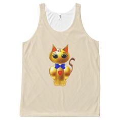 Beautiful Golden Cat All-Over-Print Tank Top - good gifts special unique customize style