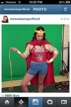 Miranda sings as Wonder Woman
