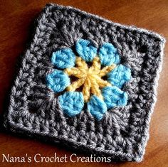 Nana's Easy Peasy Flower Square