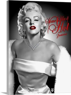Marilyn Monroe Some Like It Hot 158 Wall Art, Canvas Prints, Framed Prints, Wall Peels Marilyn Monroe Decor, Marilyn Monroe Wallpaper, Marilyn Monroe Drawing, Marilyn Monroe Pop Art, Young Marilyn Monroe, Marilyn Monroe Portrait, Marilyn Monroe Photos, Actrices Hollywood, Celebrity Wallpapers