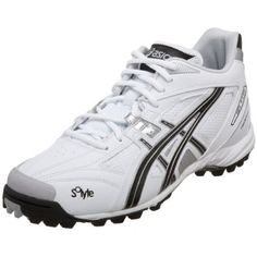 ASICS Men's GEL-V Cut MT Turf Field Shoe,White/Black/Silver,10 D US ASICS. $65.00