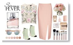 """""""Spring Scent"""" by going-under ❤ liked on Polyvore featuring beauty, HUGO, Needle & Thread, C/MEO COLLECTIVE, Grey Mer, Le Specs, Deborah Lippmann, Herbivore Botanicals, Bobbi Brown Cosmetics and Diane James"""