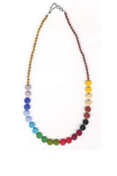 I. Ronni Kappos Rainbow Multi Disk Necklace: $195