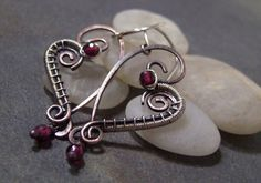 50% off Tutorial Sale-Tutorial for Rustic Heart Earrings. - from Etsy shop JewlieBeads