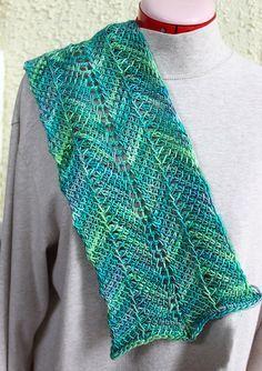 Tunisian Crochet Ripple Scarf - free Ravelry download