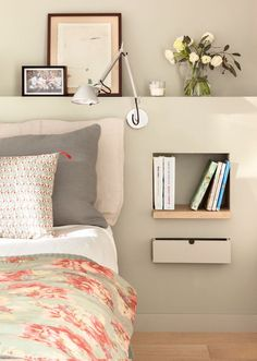 For big or small bedrooms a simplebeautiful and original bedside table! - Architecture and Home Decor - Bedroom - Bathroom - Kitchen And Living Room Interior Design Decorating Ideas - Bedroom Inspirations, Bedroom Interior, Bedroom Design, Room Design Bedroom, Small Room Design, Bedroom Designs For Couples, House Interior, Room Design, Room Decor