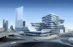 Zaha Hadid – project,spiralling tower,barcelona,bcn,zaha hadid,art,artist,arquitectura,architecture,uploads,art blog  Pinned by www.modlar.com