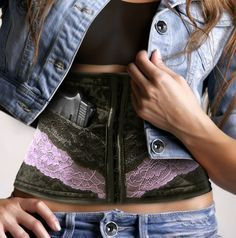 concealed carry gun holster for women Concealed Carry Women, Concealed Carry Holsters, Gun Holster, Girly, Guns And Ammo, Girls Be Like, Country Girls, Hand Guns, Just In Case