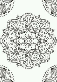 Mandala fleur simple unique doodle art doodle it. Mandala Art, Mandala Design, Mandalas Painting, Mandalas Drawing, Mandala Coloring Pages, Mandala Pattern, Zentangle Patterns, Dot Painting, Mandala Tattoo
