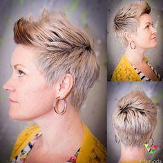 De kleuren voor 2016: Platina, zilver, licht blond... 13 trendy korte kapsels - Kapsels voor haar