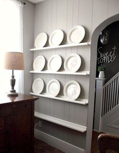 How to make a DIY plate rack in no time flat!