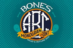 Bones Monogram is unique custom-made typeface font. Perfect for Halloween decorations, parties, printing materials and so on. It comes in both solid and outlined variations along with extras.