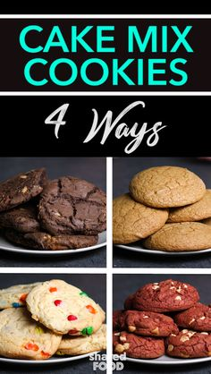 Perfect Cookie Recipes – 20 Baking Tips To Make The Best Cookies Ever - New ideas Recipes Using Cake Mix, Easy Cupcake Recipes, Cake Mix Cookie Recipes, Chocolate Cookie Recipes, Cake Pops, Box Cake Mix, Cake Box Cookies, Holiday Cookies, Cake Hacks