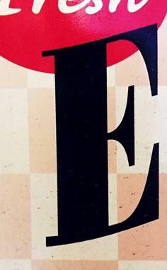 E No. 24 #E, #alphabet, #letter, #typography