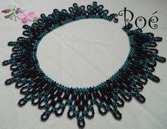 Beaded neckless with scheme Diy Jewelry Necklace, Art Necklaces, Seed Bead Jewelry, Beaded Jewelry, Beaded Necklaces, Necklace Ideas, Diy Jewellery, Jewlery, Handmade Jewelry