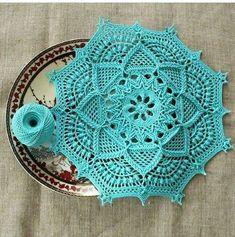 Crochet Knitting - How to crochet a volumetric ROSE - crochet flowers the roses Crochet Mandala Pattern, Crochet Circles, Crochet Diagram, Crochet Squares, Diy Crafts Crochet, Crochet Home, Crochet Projects, Free Crochet, Crochet Coaster